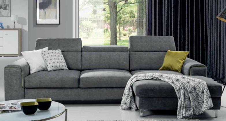 canap gris meublespro. Black Bedroom Furniture Sets. Home Design Ideas